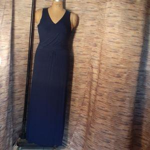 Finn & Clover navy blue maxi dress